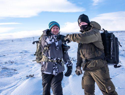Snöstorm på Dovrefjell. Här är alla bilderna.