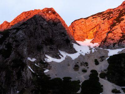 Alpen glow, Slovenien.