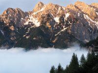 Dimmiga berg, Slovenien.