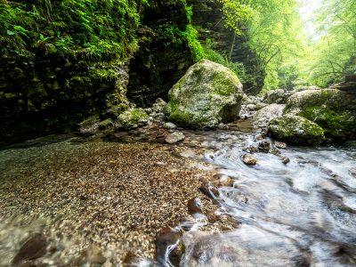 Ravin i Slovenien.