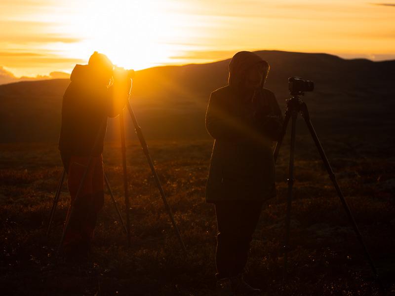 Kvällsfotografering i Rondane.