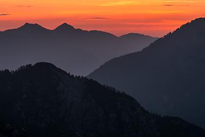 Triglav, Slovenien.