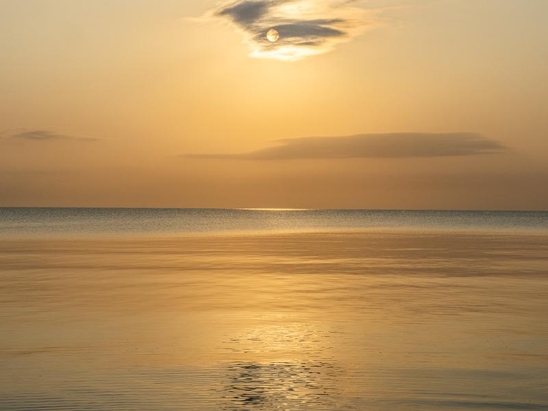 Magiskt ljus över Österlen.