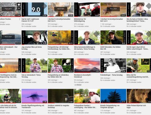 Såhär lång tid tar det för mig att spela in och redigera ett avsnitt på min Youtubekanal.